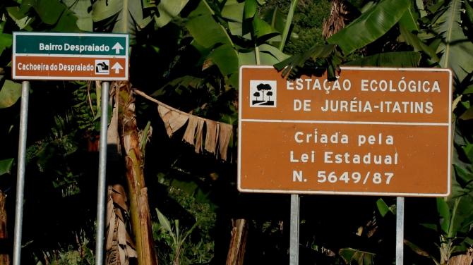Entry into the Jureia Park