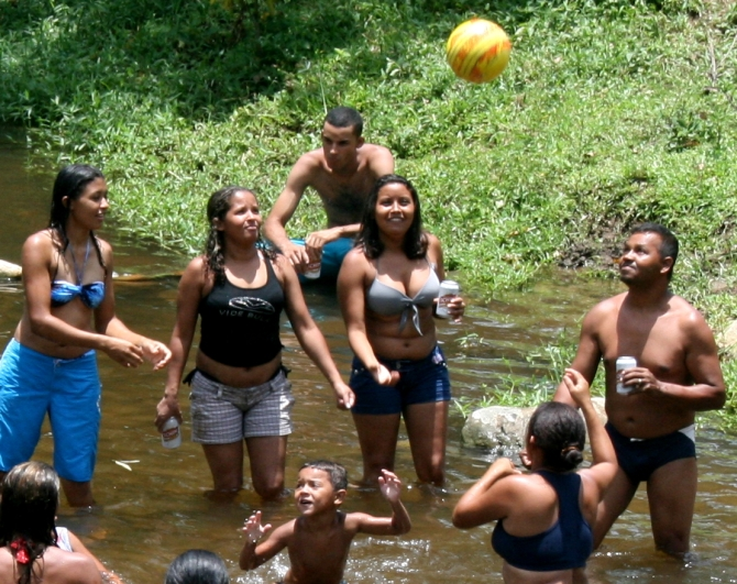 Cooling off in the river