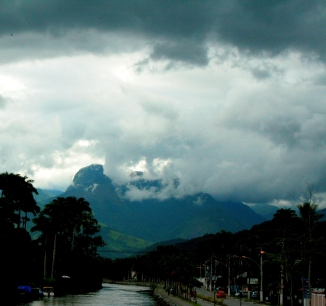 Paraty Mountains in Stormy Weather